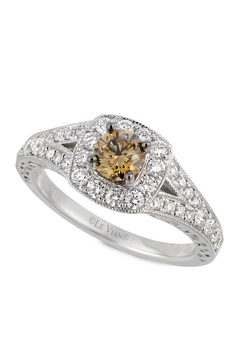 Le Vian Bridal Chocolate Diamonds and Vanilla Diamonds Ring in 14K Vanilla Gold