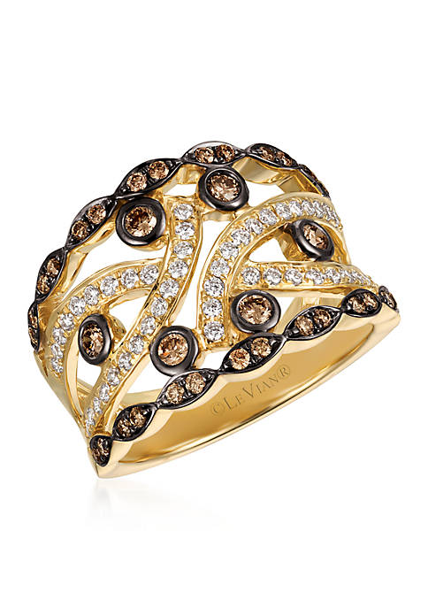 Le Vian® Vanilla Diamonds® and Chocolate Diamonds® Ring