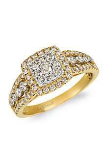 Creme Brulee® 1 ct. t.w. Nude Diamonds™ Ring in 14K Two-Tone Gold