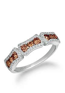 Le Vian Chocolatier Chocolate Diamonds and Vanilla Diamonds Ring set in 14K Vanilla Gold