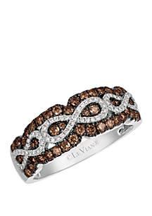 1/2 ct. t.w. Chocolate Diamonds® and 1/8 ct. t.w. Vanilla Diamonds® Ring in 14k Vanilla Gold®