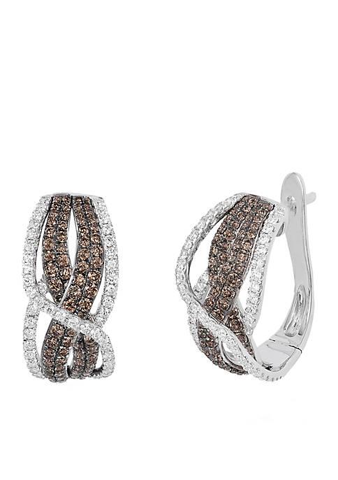 Le Vian Chocolatier Earrings with Chocolate and Vanilla Diamonds in 14K Vanilla Gold
