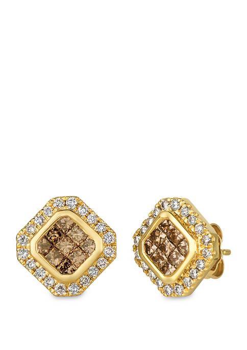 1 ct. t.w. Diamond Earrings in 14K Yellow Gold