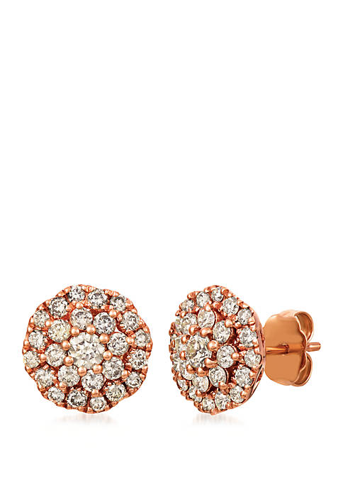 1 ct. t.w. Nude Diamonds™ Earrings in 14K Strawberry Gold®