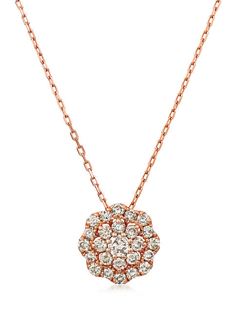 5/8 ct. t.w. Nude Diamonds™ Necklace in 14K Strawberry Gold®
