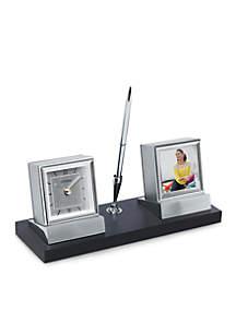Executive Suite Silver-Tone Desk Clock