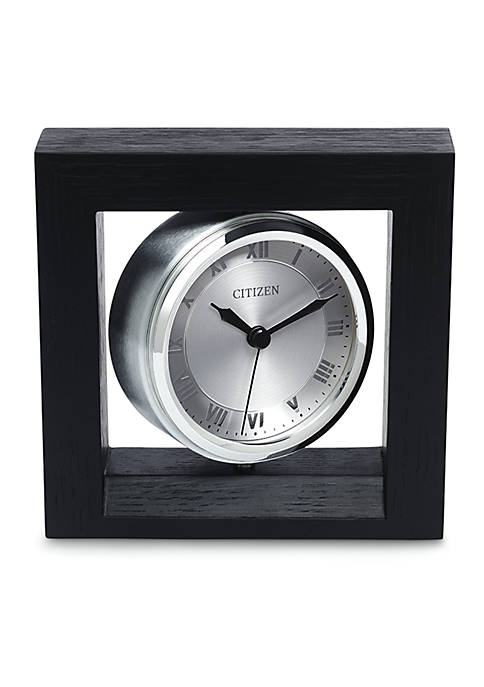 Citizen Decorative Accent Silver-Tone Spinning Clock with Photo