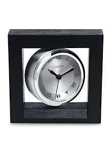 Citizen Decorative Accent Silver-Tone Spinning Clock with Photo Holder