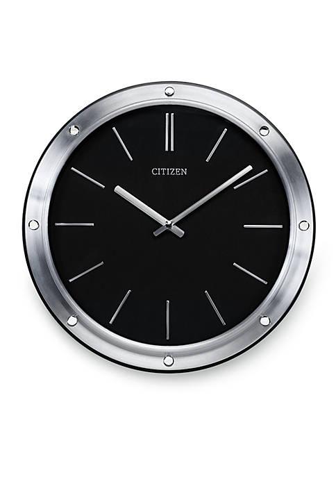 Citizen Silver-Tone Gallery Modern Wall Clock