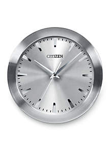 Citizen Brushed Silver-Tone Citizen Gallery Wall Clock