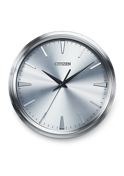 Silver-Tone Citizen Gallery Circular Wall Clock