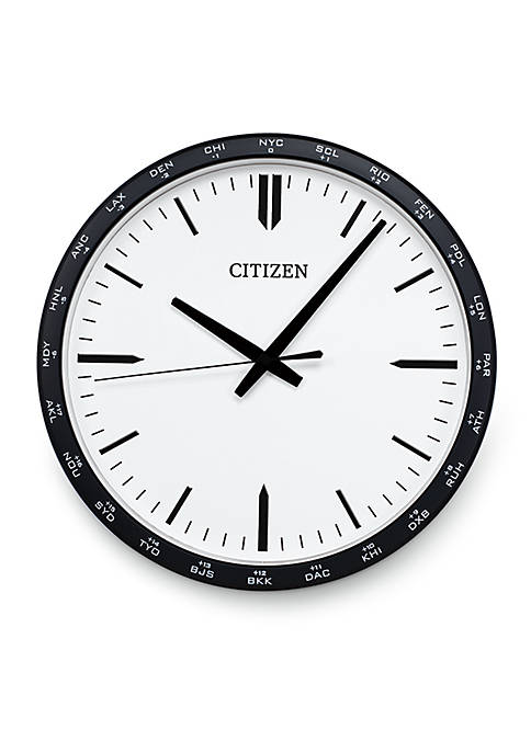 Citizen Gallery Circular Wall Clock with World Time