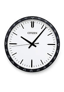 Gallery Circular Wall Clock with World Time Zone Bezel