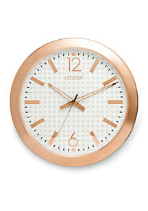 Rose Gold-Tone Citizen Gallery Circular Wall Clock - Patterned Dial