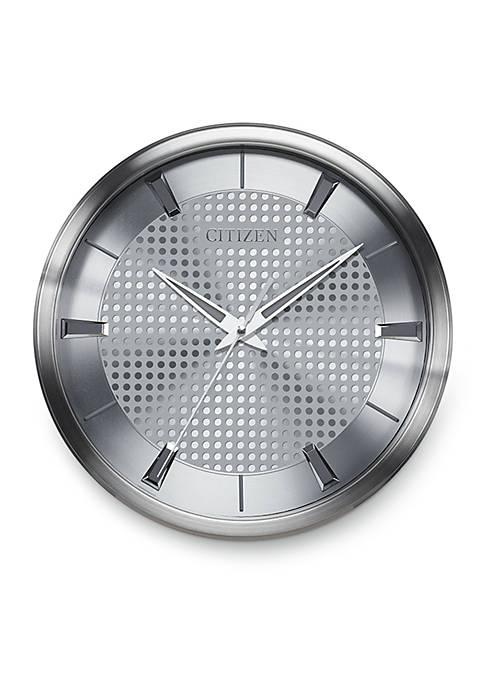 Silver-Tone Citizen Gallery Wall Clock