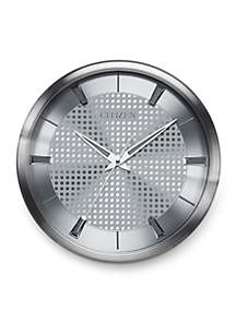 Citizen Silver-Tone Citizen Gallery Wall Clock - Patterned Dial