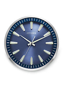 Silver-Tone Citizen Gallery Circular Wall Clock
