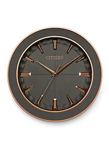 Rose Gold-Tone Citizen Gallery Leather Frame Wall Clock