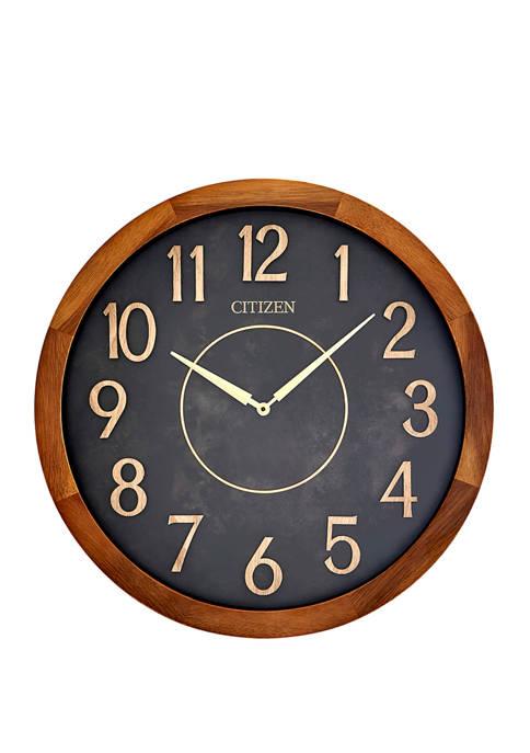 Citizen 16 Inch Indoor/Outdoor Wood Wall Clock