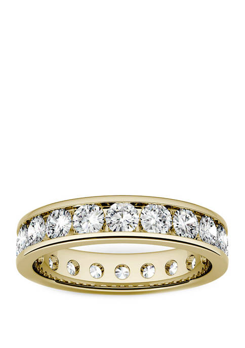 Moissanite Eternity Band