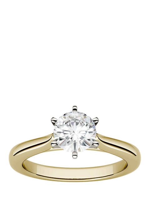 Charles & Colvard Lab Created Moissanite Solitaire Ring