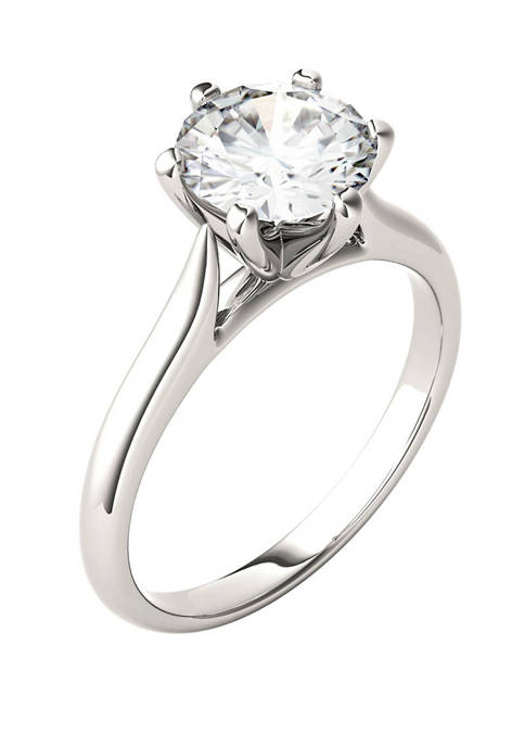 1.5 ct. t.w. Lab Created Moissanite Solitaire Ring in 14K White Gold