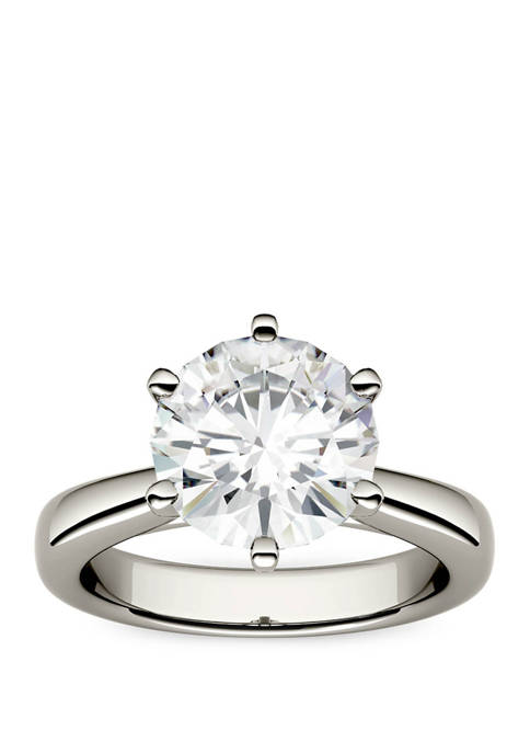 3.1 ct. t.w. Lab Created Moissanite Solitaire Ring in 14K White Gold