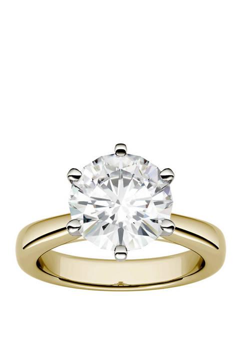 Charles & Colvard Moissanite Solitaire Ring