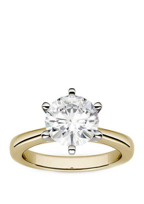 1.9 ct. t.w. Lab Created Moissanite Solitaire Ring in 14K Yellow Gold