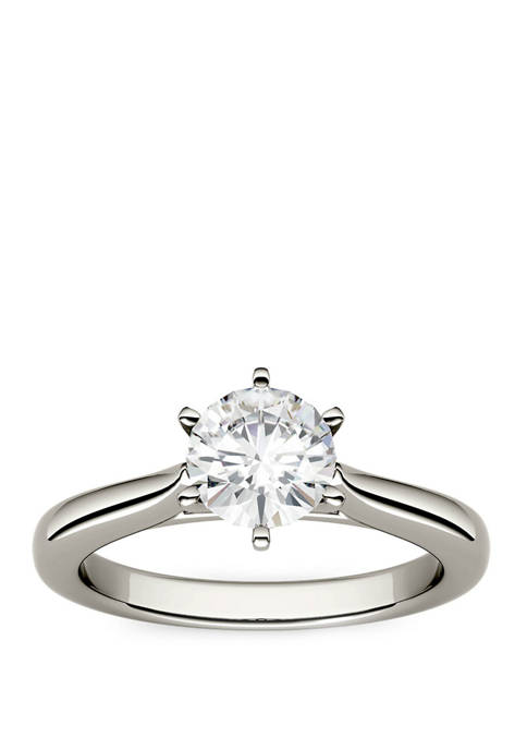 1/2 ct. t.w. Moissanite Engagement Ring in 14K White Gold