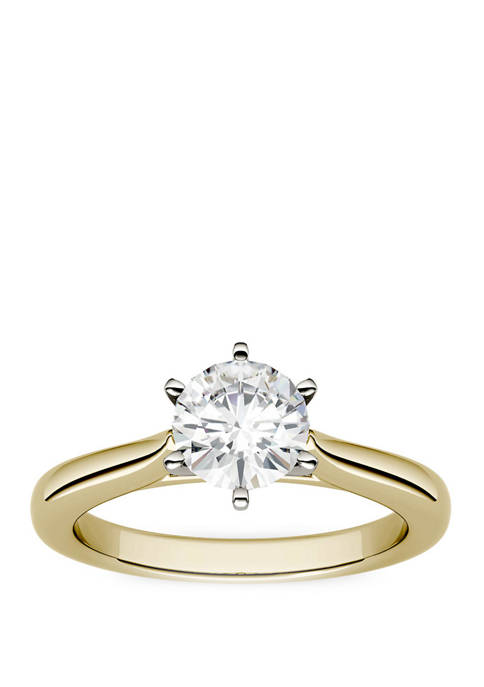 1/2 ct. t.w. Lab Created Moissanite Engagement Ring in 14K White Gold