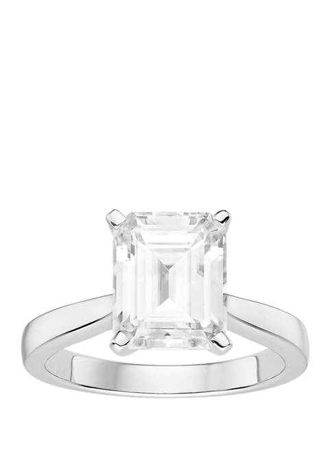 3.55 ct. t.w. Lab Created Moissanite Solitaire Ring in 14K White Gold