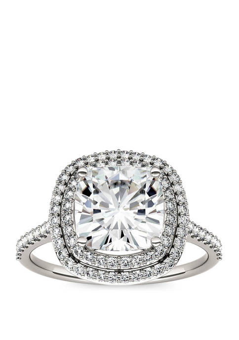 2.9 ct. t.w. Lab Created Moissanite Halo Ring in 14K White Gold