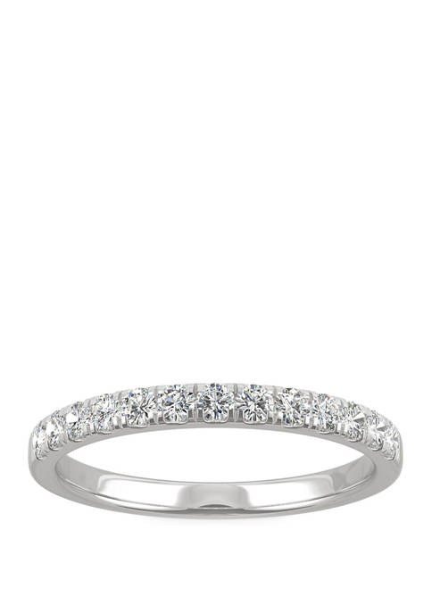 1/3 ct. t.w. Lab Created Moissanite Anniversary Band in 14K Gold