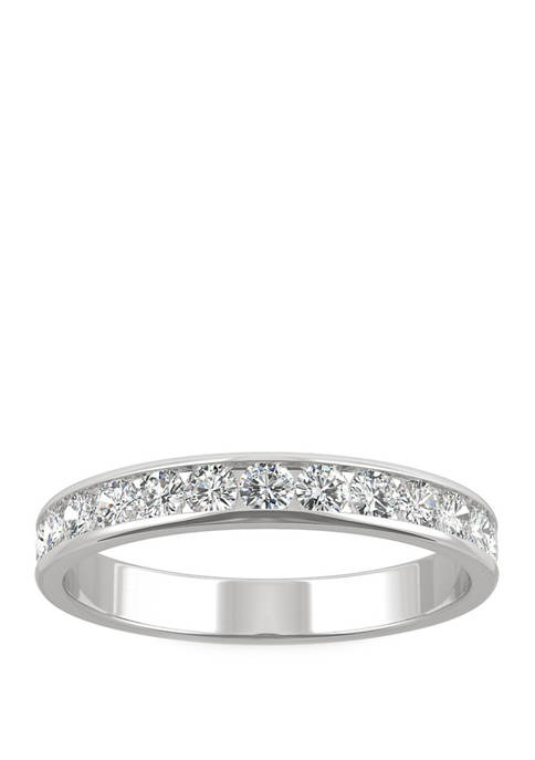 5/8 ct. t.w. Lab Created Moissanite Band in 14K White Gold