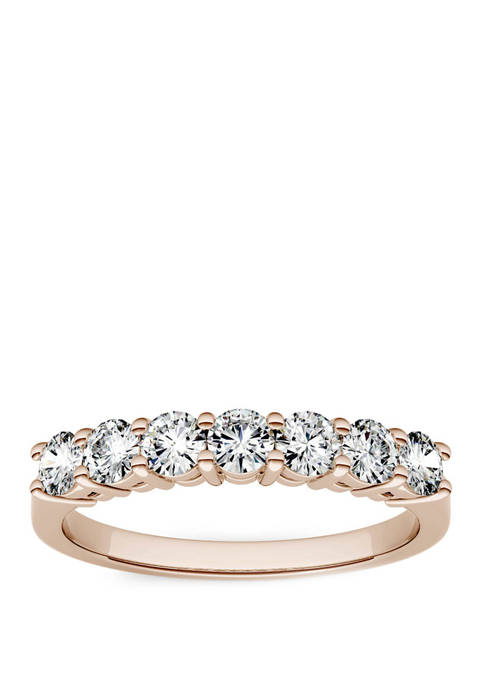 Lab Created Moissanite Seven Stone Band