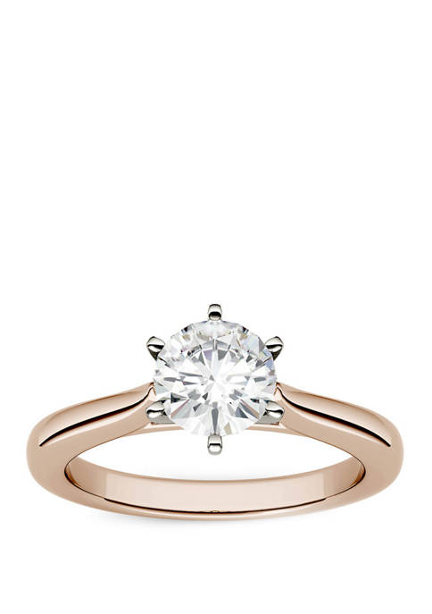 Lab Created Moissanite Engagement Ring