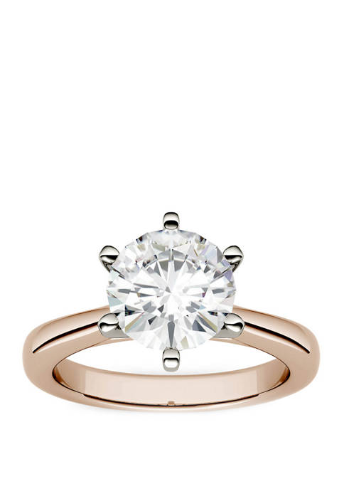 Lab Created Moissanite Solitaire Ring