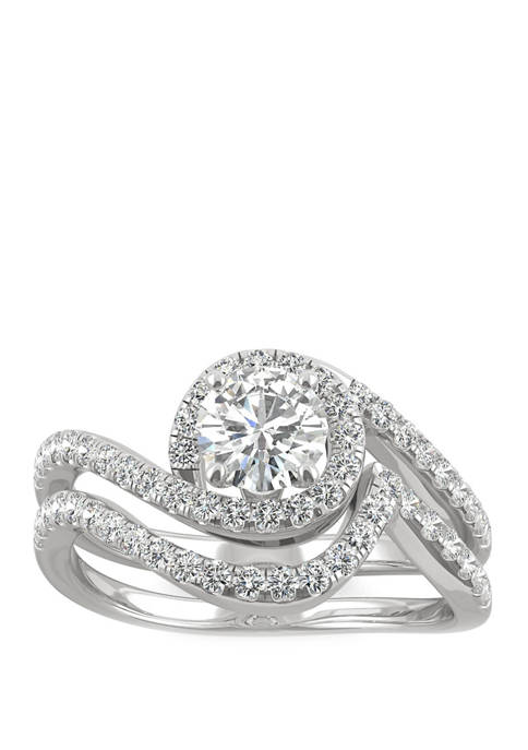 Lab Created Moissanite Bypass Ring