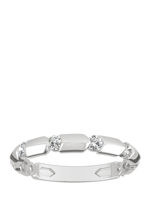 Lab Created Moissanite Stackable Band