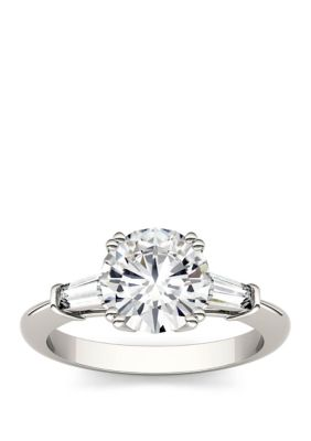 Charles Colvard Women 2.27 Ct. T.W. Lab Created Moissanite Engagement Ring In 14K White Gold