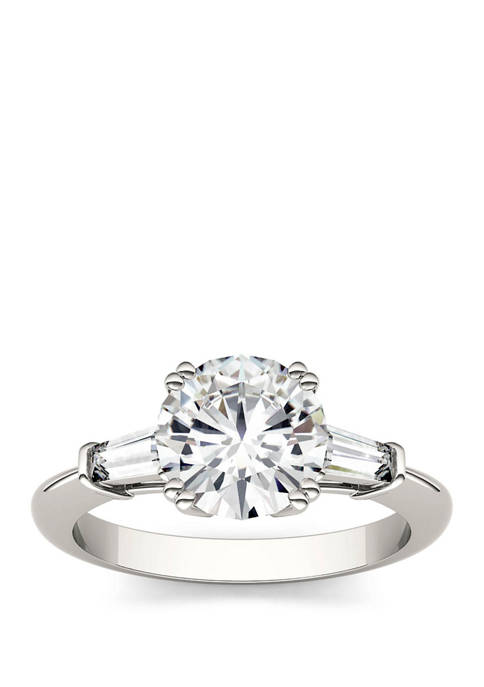 2.27 ct. t.w. Lab Created Moissanite Engagement Ring in 14K White Gold