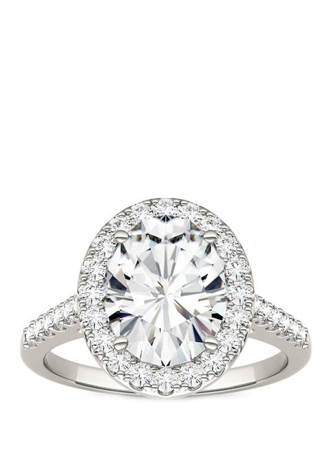 3.48 ct. t.w. Lab Created Moissanite Halo Ring in 14K White Gold