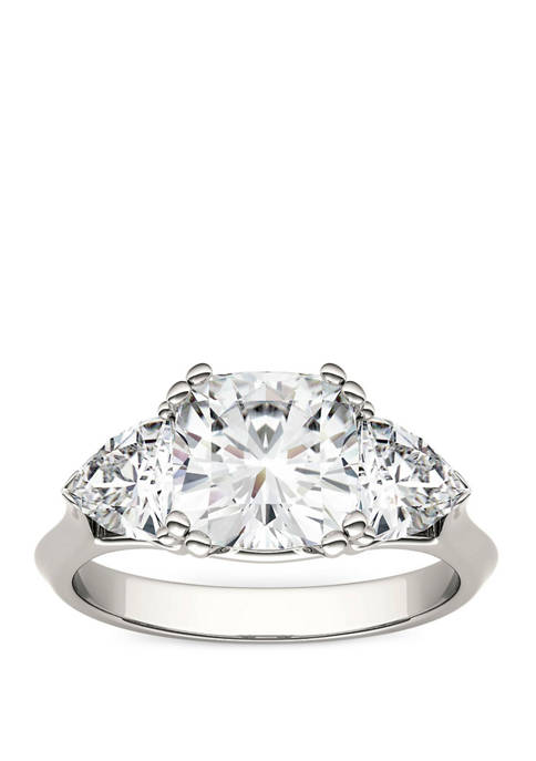 3 ct. t.w. Lab Created Moissanite Three Stone Ring in 14K White Gold