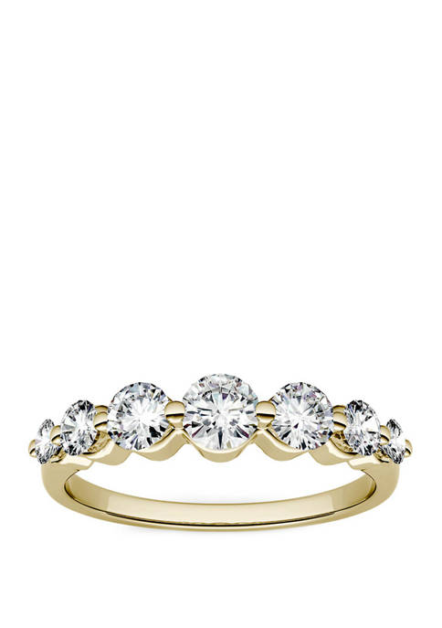 7/8 ct. t.w. Lab Created Moissanite Seven Stone Band in 14K Yellow Gold