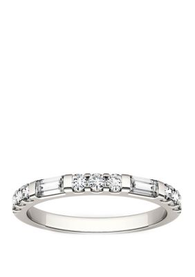Charles Colvard Women 1 2 Ct. T.W. Lab Created Moissanite Stackable Band In 14K White Gold