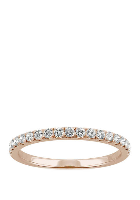 1/3 ct. t.w. Lab Created Moissanite Anniversary Band in 14K Rose Gold