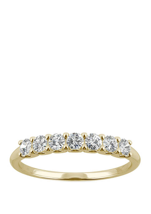 3/8 ct. t.w. Lab Created Moissanite Anniversary Band in 14K White Gold