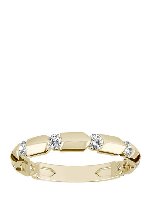 1/4 ct. t.w. Lab Created Moissanite Stackable Band in 14K Yellow Gold