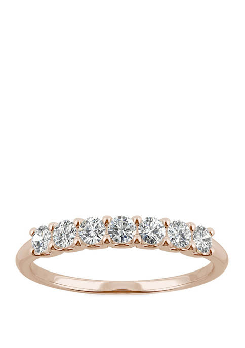 3/8 ct. t.w. Lab Created Moissanite Anniversary Band in 14K Rose Gold